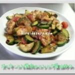 ズッキーニと鶏肉のニンニク醤油炒め 簡単レシピ